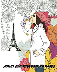 Adult Coloring Book Fashion Classy Chic Design Women Sketches