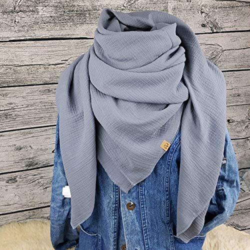 XXL Tuch grau Farbwahl Halstuch Musselintuch Musselin Damen Damenhalstuch Dreieckstuch Schal Herren Männer Frauen