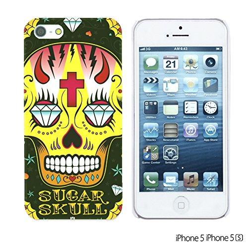 OBiDi - Skull Pattern Hardback Case / Housse pour Apple iPhone SE / Apple iPhone 5S / 5 - Floral Skull Black Sugar Skull