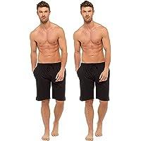 BRANDBUYS Mens Pyjamas Shorts Twin Pack | Lounge Shorts Men | Cotton Pyjama | Soft, Cosy & Comfy Shorts, Mens Pyjamas…