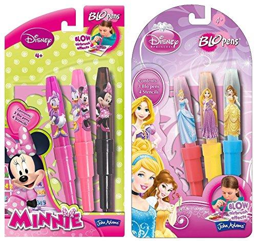 BLO PEN BUNDLE - Disney Princess Pen-Set ** ÜBERPRÜFEN SIE KLEINE 3 PEN SET ONLY ** UND Minnie Starter Pack ** NUR KLEINE 3 PENS ** - 2 LIEFERUMFANG (Versand aus UK) Pen Bundle