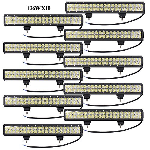 Leetop 10X 126W IP67 CREE LED Light Bar Barra Luminosa...