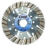 Amboss UBS 13P - Diamant-Trennscheibe Ø 125 mm x 22,2 mm - leicht armierter Beton / Baustellenmaterialien / Stein | Segmenthöhe: 15 mm (gesintert)