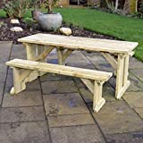 Tinwell Picnic Table and Bench Set - Light Green (4ft)