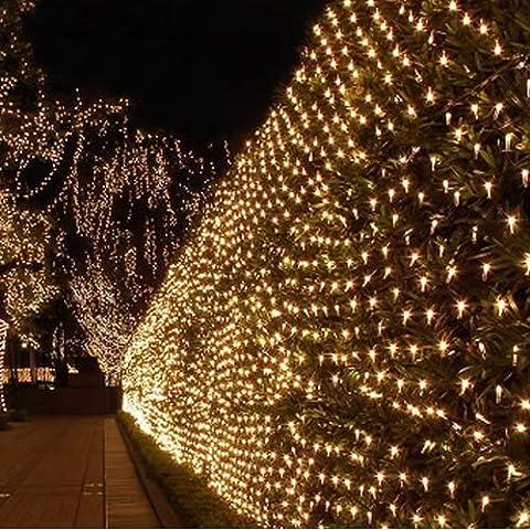 Eplze LED Rideau de Lumière 6m x 3m 600 LEDs Lumière LED Fée 8 Modes Commandables Résistant à l'eau Lumière Cordes pour Party de Noël Mariage Fête Décoration de Fenêtre (Blanc