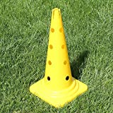 Superhund24 Kombi-Kegel 50 cm in 4 Farben, für Agility-Training (gelb)