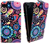 Xtra-Funky Exclusive Leather Flip Style Wallet Case Cover with Beautiful Stylish Jelly Fish & Flower Floral Designs For iPhone 4 / 4S - Design B9