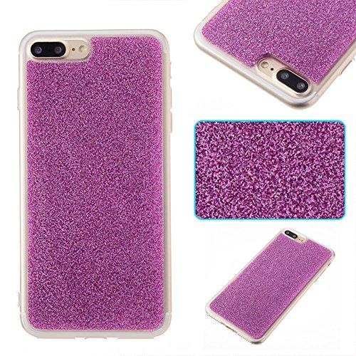 DaYiYang Silikon TPU weicher flexibler Gel-Abdeckungs-Fall Glänzender Glitter 360 ° volle Abdeckung Rückseitige Abdeckung [Shockproof] für iPhone 7 Plus ( Color : Rose ) Purple