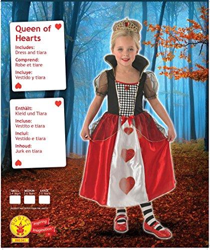 Imagen de reina de corazones  niños disfraz  pequeño  104cm alternativa
