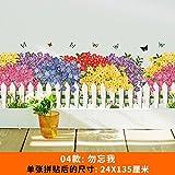 SMNCNL Wand - Blume Garten Zaun Linie selbst Fußleisten Kleber Aufkleber Schmetterling Hintergrundbild Dekorationen, nicht Ecstasy
