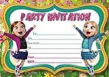 10 x Frozen Elsa Snow Queen-Biglietti d'invito per feste di compleanno dei bambini