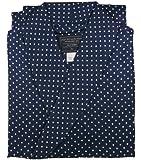 Robe de Chambre en Soie - Bleu Marine à Pois - Homme - Peignoir