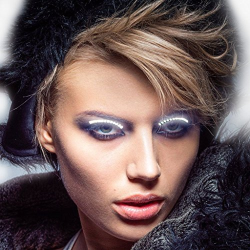 n - 1 Paar Wearable Blinkende LED Falsche Wimpern Licht Augenlid Aufkleber Waterproof Shining mit 7 Blitz Effekte Für Masquerade Ball Parties Halloween Christmas Pub Club Bar (Led-halloween)