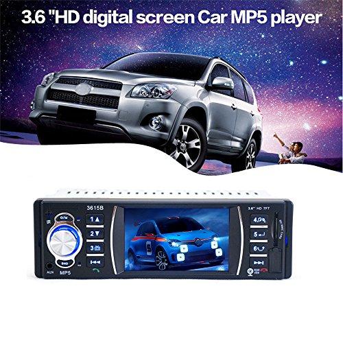 Koly Estéreo Bluetooth Car Audio en el tablero de receptor de entrada Aux Reproductor MP5 SD / USB