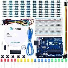 Elegoo Conjunto Básico de Iniciación a Arduino UNO con Guías Tutorial en Español y Arduino UNO R3 Arduino UNO Starter Kit