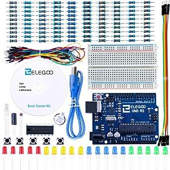 Elegoo, UNO Projekt-Einsteiger-Set mit Tutorial (evtl. nicht in deutscher Sprache) und UNO R3 für Arduino