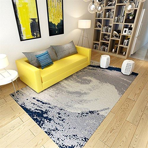 Ommda Teppiche Wohnzimmer Modern Digitales Zusammenfassung Teppich Colorful Kurzflor Antirutsch Abwaschbar 160x230cm 9mm