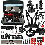 45in1 Zubehör-Kit für Gopro Hero 7 | 6 | 5 | 4 | 3 | 2 HD | 1 | Xiaoyi - Brustgurt Halterung Kopfband Saugnapfhalterung Befestigungszubehör usw.