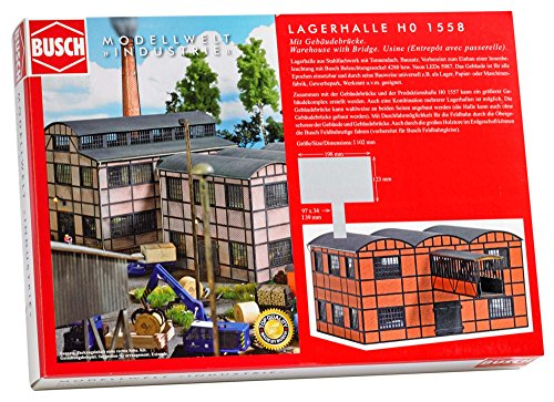 Busch 1558-Fábrica Edificios Almacenamiento Halle con Edificios Puente, Vehículo