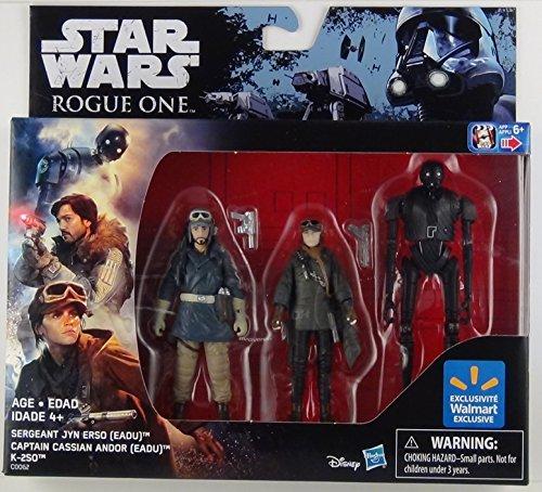Preisvergleich Produktbild Star Wars Rouge One Exklusives Figuren Set Sergeant Jyn Erso Captian cassian Andor und K-2SO