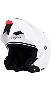 Vega Crux Full Face Motorbike Helmet, White,Medium Size  58 CM