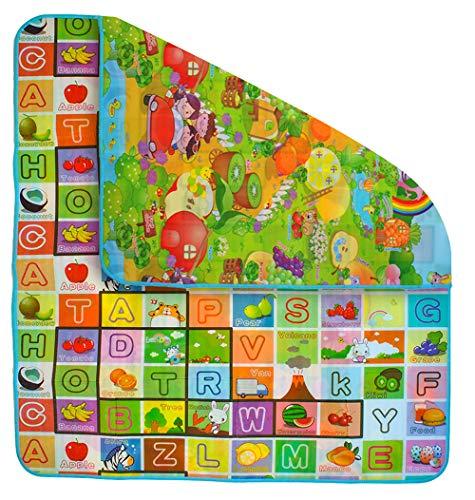 Kindermatte Spielteppich Isoliert 180x200x0,5cm Krabbeldecke Bunt Tasche Tragbar 6402