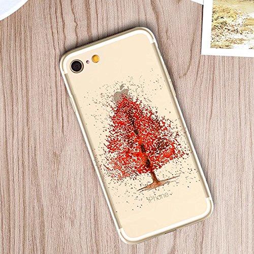 MOMDAD Coque pour iPhone 6 6S Silicone TPU Etui iPhone 6 6S Souple Coque pour iPhone 6 6S 4.7 Pouces Housse Bling Transparent Arrière Case Motif Shell Cas Couverture {Anti-Choc} {Anti-Shock Bumper} Ca Art tree-8