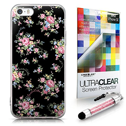 CASEiLIKE Zitat 2402 Ultra Slim Back Hart Plastik Stoßstange Hülle Cover for Apple iPhone SE +Folie Displayschutzfolie +Eingabestift Touchstift (Zufällige Farbe) 2261