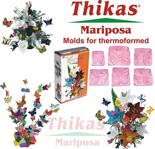 Ausstechformen für Blumen-Thermoformen thikas Schmetterlinge Set 3