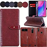 QHTTN Red Premium Crocodile Pattern Cover Case For TP-Link