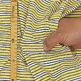 kawenSTOFFE Jerseystoff Gelb Blockstreifen Punkte Stretch