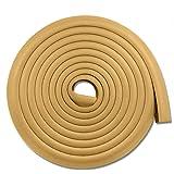 AMERTEER Edge & Corner Guards Baby Proofing Foam - Safety Furniture Bumper Table Protectors - Corner Cushion Set 4M (15.7 ft