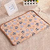 Qiuxiaoaa Pet Mat Morso Autunno e Inverno Cane Sleeping Mat Coperta di Gatto più Velluto Kennel Antiaderente Capelli Pet Supplies Camel Large