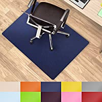 Office Marshal® alfombrillas de colores para usar debajo de la silla multiusos para la protección del suelo de la oficina–Tamaño y color seleccionable, azul