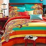 Best FADFAY Beddings - FADFAY 4Pcs Bohemian Bedding Boho Bedding Queen King Review