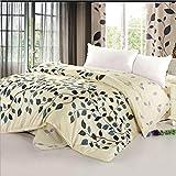 Jingzou Edredón de algodón edredón de una sola cama de sarga de algodón doble edredón único220*240cm