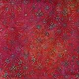 Fabric Freedom Cerise Pink Verge Design 100% Baumwolle Bali