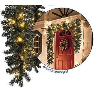 Knstliche-Weihnachts-Girlande-Tannengirlande-mit-LED-Lichterkette-40-LEDs