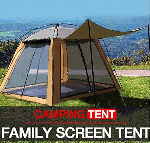 LUCKY-U Camping Zelt 3-4 Personen Wasserdichte Belüftung Anti-Moskito Portable Riesige Space Camp Wandern