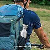 Trinkflasche, 0.5L Edelstahl / Wasserflasche mit Bambus Deckel, Eco Friendly von Pure Design - 5