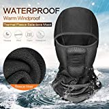 Unisex Winter Warm Hat Moto Waterprrof Antivento Maschera Hat Neck Casco Berretti per Uomo Donna Sports Bicycle Thermal Fleece Balaclava Hat per Uomo e Donna- - Elastic Size Universal