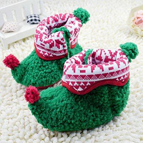 Mark8shop Weihnachtswärmer Baby Kleinkind Neugeborene Baumwolle Stoffschuhe