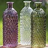 Flaschenvase Jessy 3s H20 D7cm Material: Glas lackiert