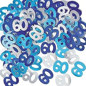 Gifts 4 All Occasions Limited SHATCHI-1171 Shatchi - Confeti de mesa (14 g, 60 unidades), color azul