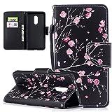 Honghushop PU Leder Hülle für Xiaomi Redmi Note 4 / Note 4X Hülle Brieftasche Klapphülle Flip Case Kirschblüte Desi