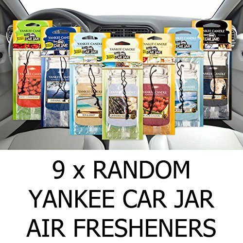 AMAZING VALUE PACK 9 x Assorted Yankee Candle Car Jar Air Hanging Air Fresheners by Yank