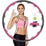 Awroutdoor Gewogen fitnesshoepel, zacht EVA-schuim gevoerde trainingshoepels voor tieners en volwassenen, dans en fitness met
