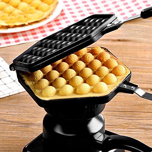 Bloomma Waffle Maker, Macchine per Waffle Alluminio Die casting processo antiaderente Egg Waffle Pan Egg Bubble Waffle Iron per strumenti di cottura Bakeware