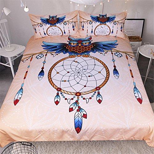 HUANZI Weiche Bettdecke Abdeckung 3D-Farbe Dreamnet Bettdecke Set 3pcs Bettwäsche Set mit Kissen Etui Polyester, a, König -