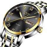 Herren Uhren Mode einfachen Stil Sport Quarzuhr Edelstahl Armbanduhr Marke Luxus Business Wasserdicht schwarz Armbanduhr